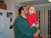 Dad kissing Jack 12-26-00