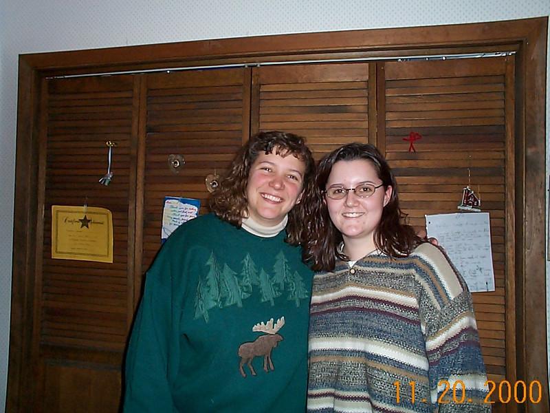 Angie & Lisa 11-20-00