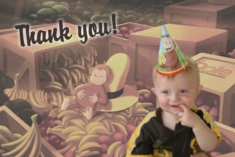 Thank you everyone for an awesome 1st birthday! Ooh ooh ahh ahh!