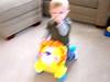 10 13 07 Jonah on riding lion