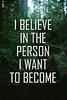 believe in the person