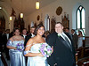 Christina and groomsman walking out 06-23-01