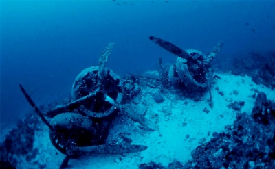 How the Harem looked when she was on the sea bed.