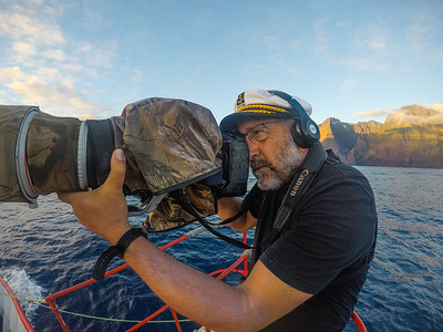 Marine Ornithologist & photographer Hadoram Shirihai in the field
