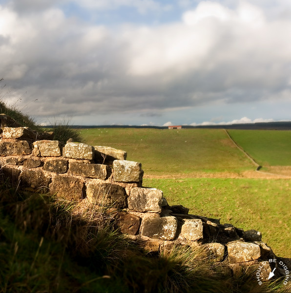 View north from Hadrian's Wall, England