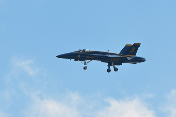 Blue Angels fly over Boston on the 4th of July