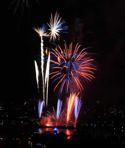 Freworks on the Charles River on the 4th of July
