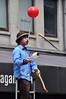 Street performer in Quincy Market , Boston , MA