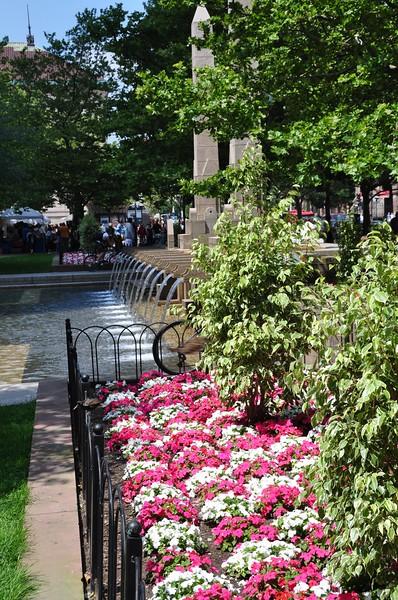 Fountains in Coply Square, Boston, MA