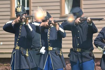 Gun fire at Fort Mackinac
