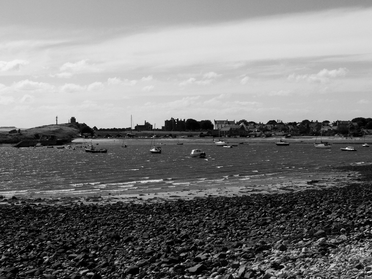 Lindisfarne Harbour, it was a very windy day, typical for this part of the world