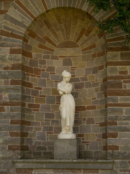 One of the statues in the walled garden at Haggerston Castle
