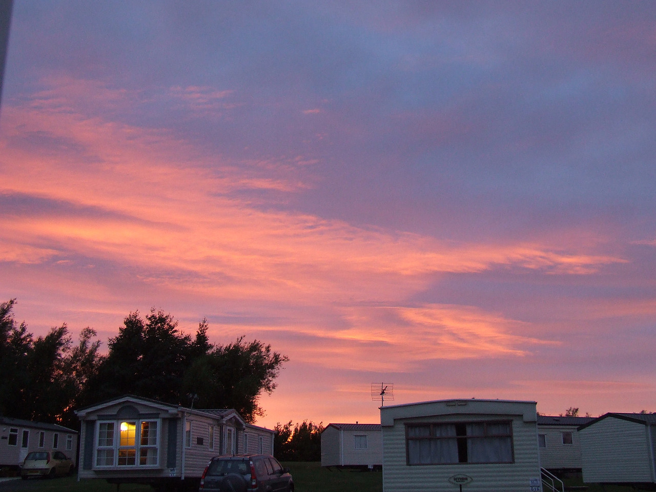 Sunset over Haggerston Castle