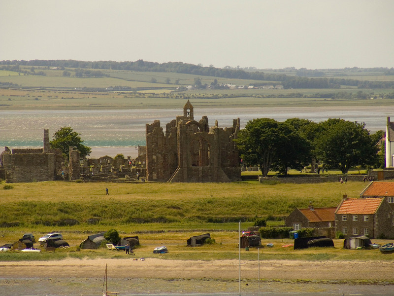 The ruins of the priory at Lindisfarne