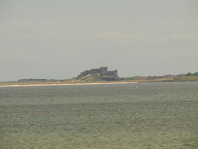 Bamburgh Castle as seen from Lindisfarne Castle