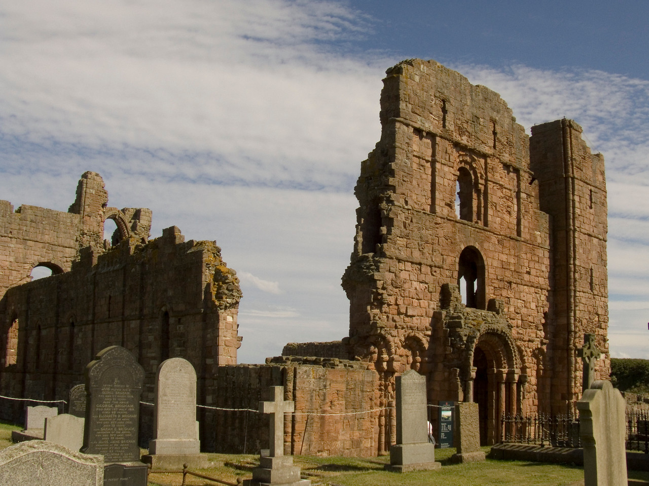 The ruined priory at Lindisfarne