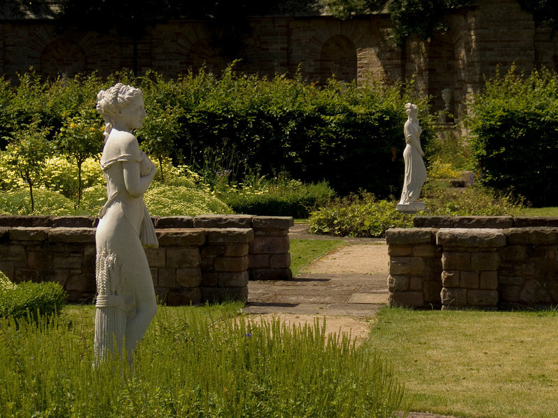 Another two statues at the walled garden at Haggerston Castle. The garden was built by CJ Leyland during his tenure at Haggerston House