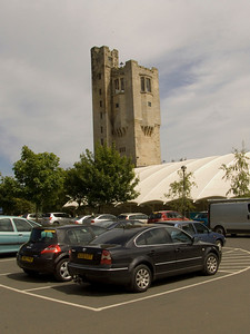 The old water tower at the complex that once served Haggerston Castle and the estate