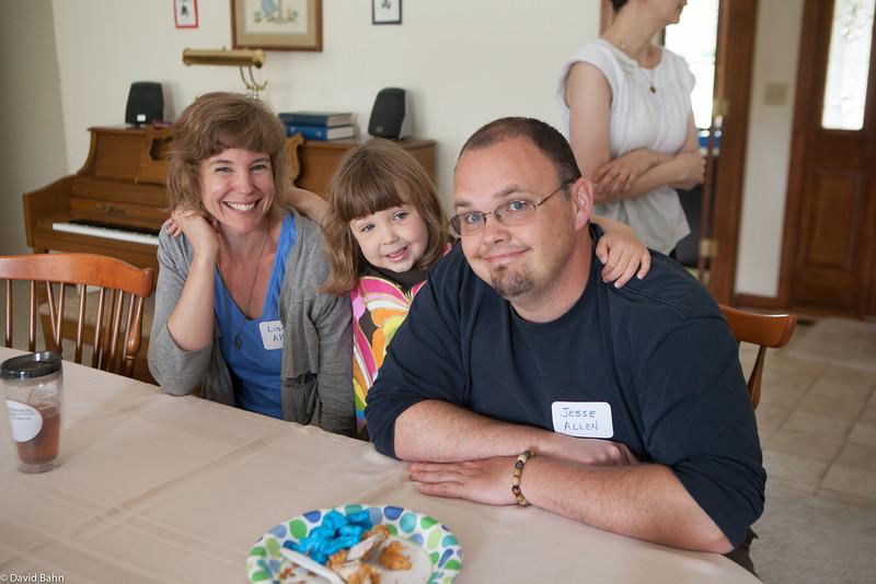 Lisa, Zinnia, and Jesse Allen