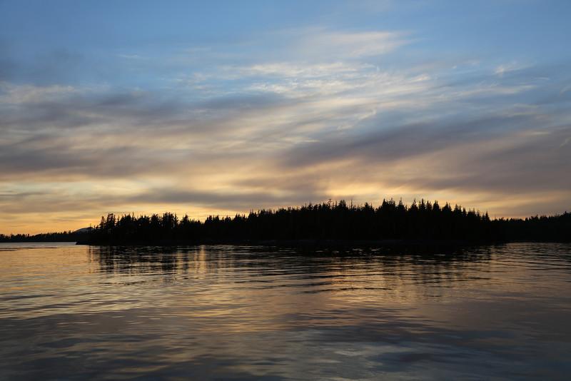 Foggy Bay sunset