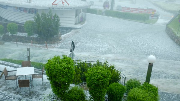 Hailstorm in Kitzbühel, Austria