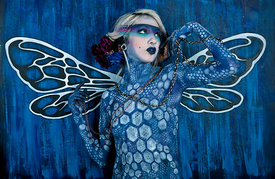 Model: Aileth Bran Hair and Makeup: Ande Castaneda Photo & Bodypaint: Todd Powers Props & Set: Jen Raven