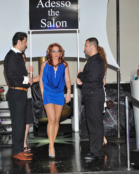 Melville, New York - June : Adesso Salon Preforms the 30 at Four Hair Salon Competition Hosted By Richard Jay on June 13, 2011 in Melville, New york. (Photo by Joseph Bellantoni/In House Image)