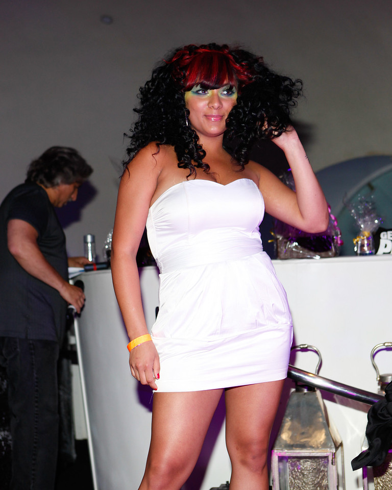 Melville, New York - June : Estilo Preforms the 30 at Four Hair Salon Competition Hosted By Richard Jay on June 13, 2011 in Melville, New york. (Photo by Nicolai Patrick/In House Image)
