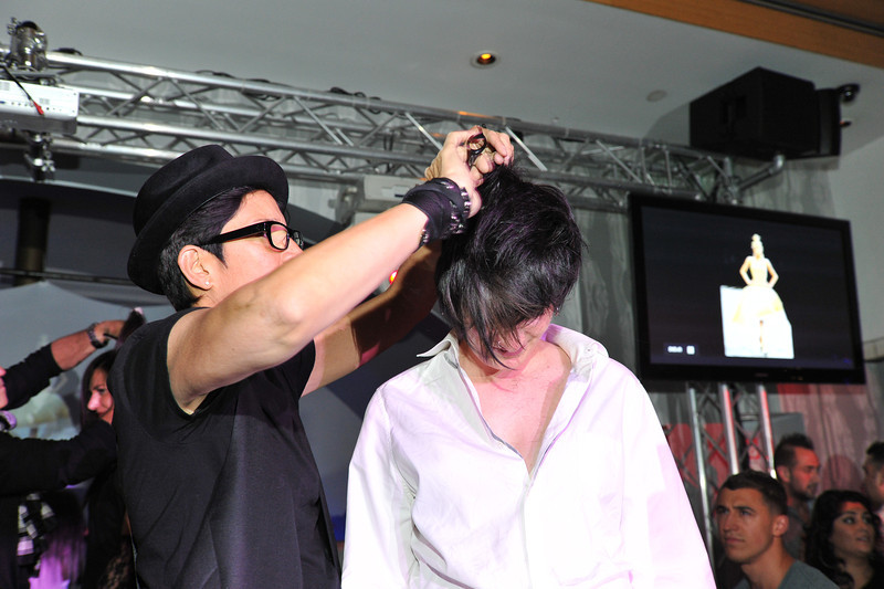 Melville, New York - June : Smbiotc Salon Systems Featuring Pure Ed Lori and Nick Preforms the 30 at Four Hair Salon Competition Hosted By Richard Jay on June 13, 2011 in Melville, New york. (Photo by Joseph Bellantoni/In House Image)