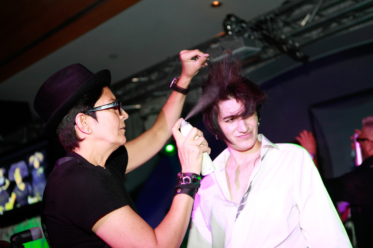 Melville, New York - June : Smbiotc Salon Systems Featuring Pure Ed Lori and Nick Preforms the 30 at Four Hair Salon Competition Hosted By Richard Jay on June 13, 2011 in Melville, New york. (Photo by Nicolai Patrick/In House Image)