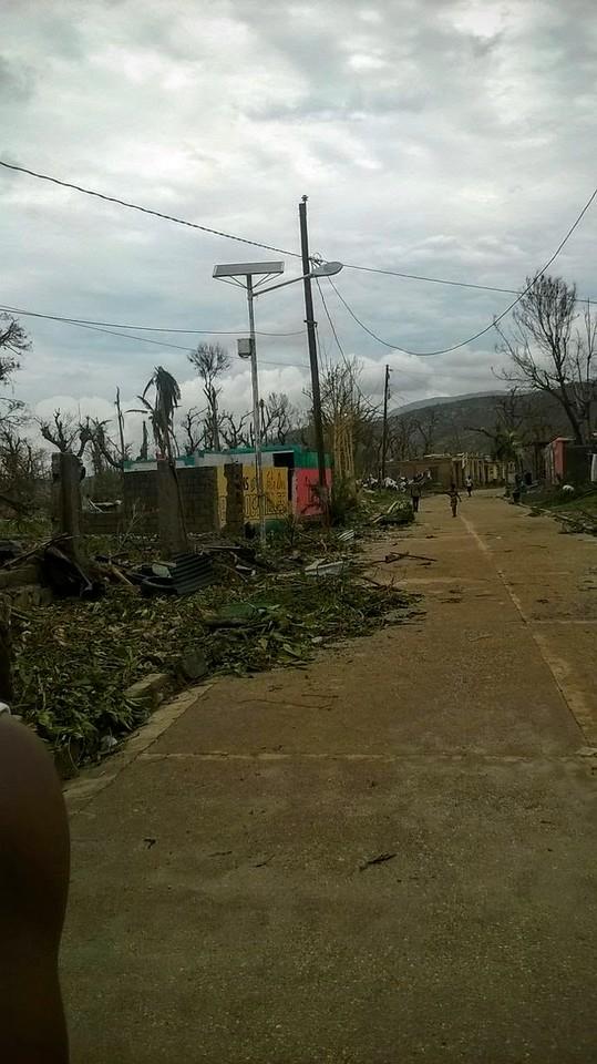 Port-a-Piment after Hurricane Matthew October 2016.