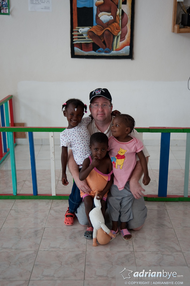 Me with some haitian orphans