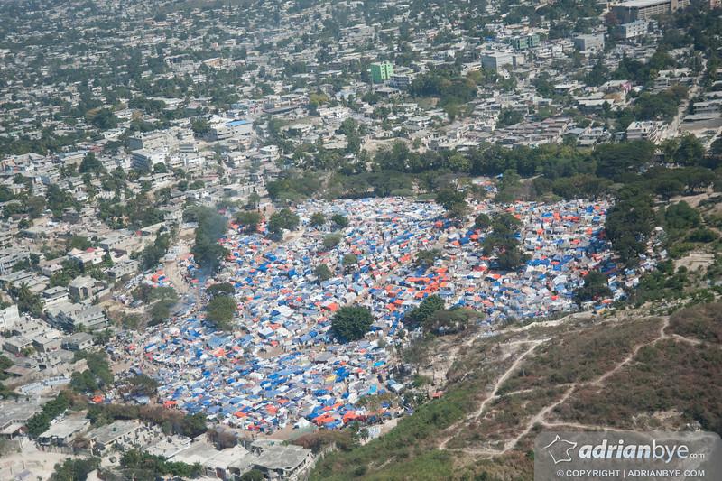 A tent city
