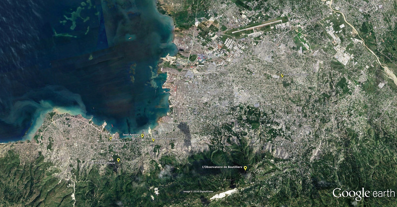 Overview of the places we visited in Haiti.