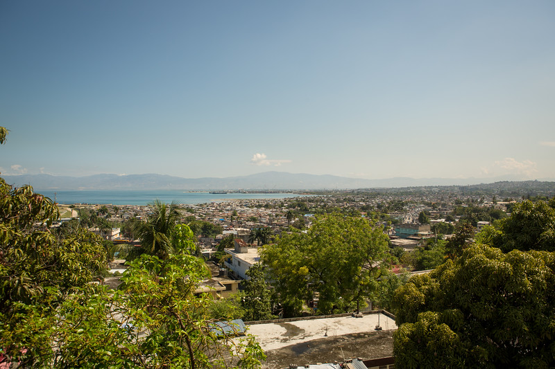 View from the back of the school out over Port-au-Prince Bay.