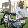 Leominster held it's first Haitian Festival on the common Sunday, September 8, 2019. One of pieces of art at the festival. DJ Bazymix entertains the crowd at the festival.<br /> SENTINEL & ENTERPRISE/JOHN LOVE