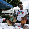 Leominster held it's first Haitian Festival on the common Sunday, September 8, 2019. Manning one of the tables at the festival is Erica Dessalines of Leominster. SENTINEL & ENTERPRISE/JOHN LOVE