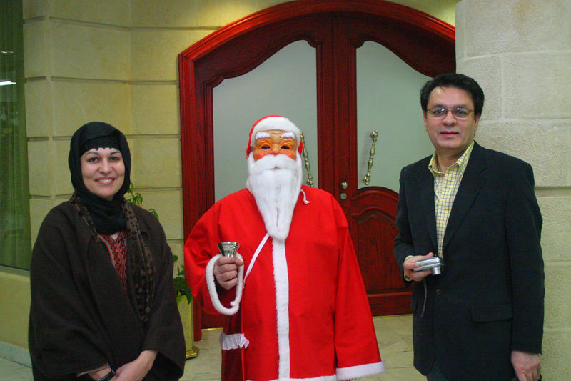 Santa showed up amongst the Hajis!  We simply had to get that picture with Arshad Jan and Ambreen.
