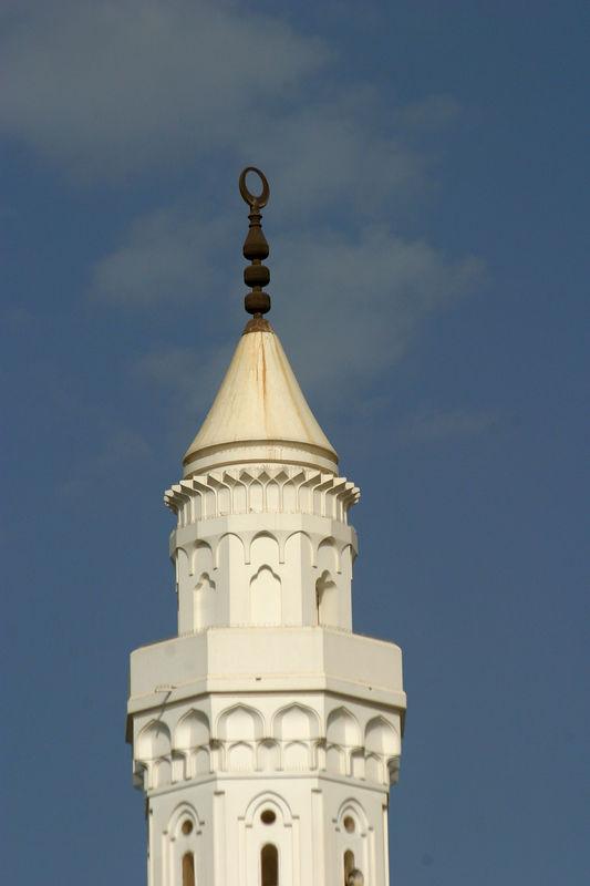 A minaret at the Masjid Qiblatain