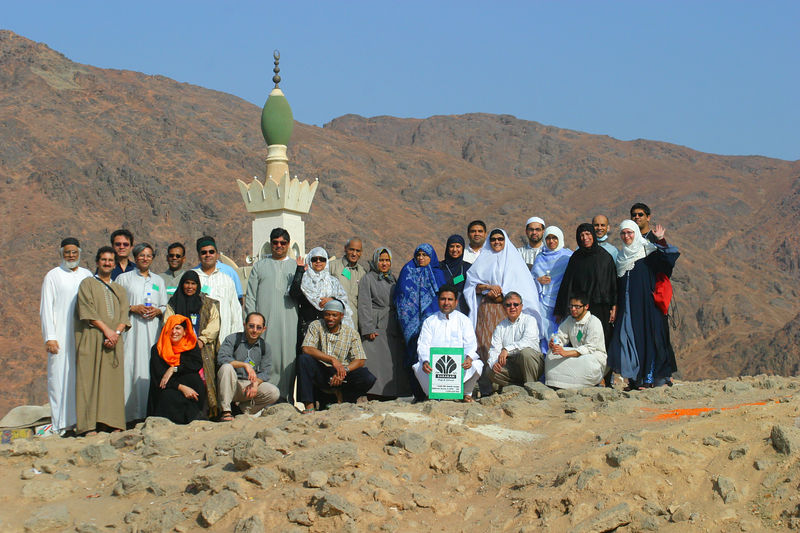 At Ohud on Archers Hill.  Dr. Riaz, our group leader had flown in from Chicago (4th from left). This comprised the entire Barakah Group that we went through Hajj with.  On this day we toured the sites that are well known in Islamic history.