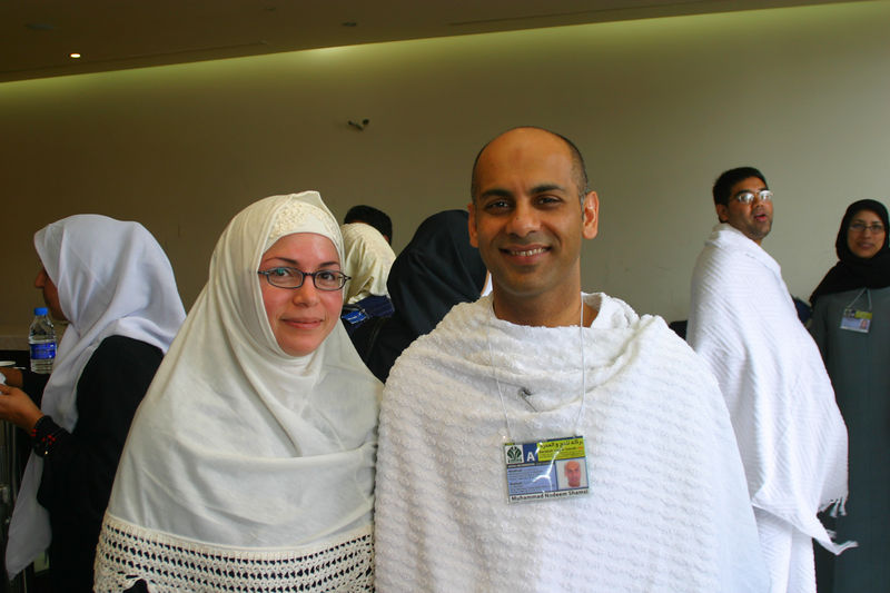 Nadeem and Nadia.  The ID that Nadeem is wearing is issued to all Hajis and lists their home country, their hotels etc.