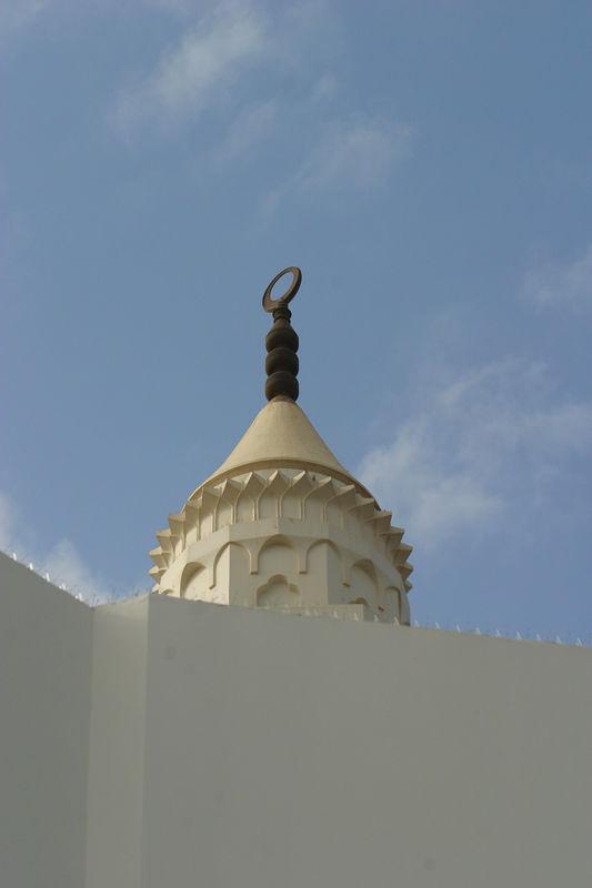 A closeup of the minaret.