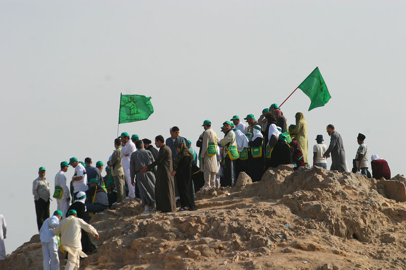 Pilgrims on the Archers Hill.