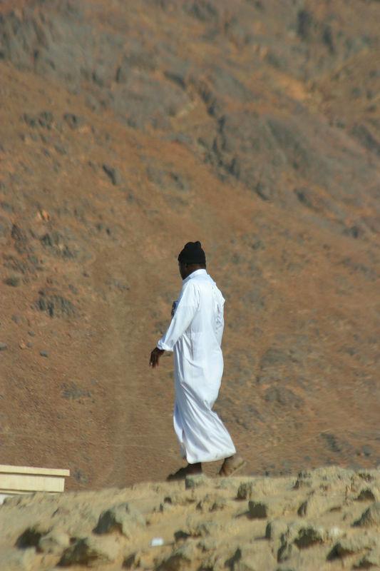 A pilgrim at Ohud.