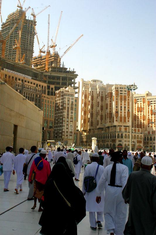 Outside the masjid.