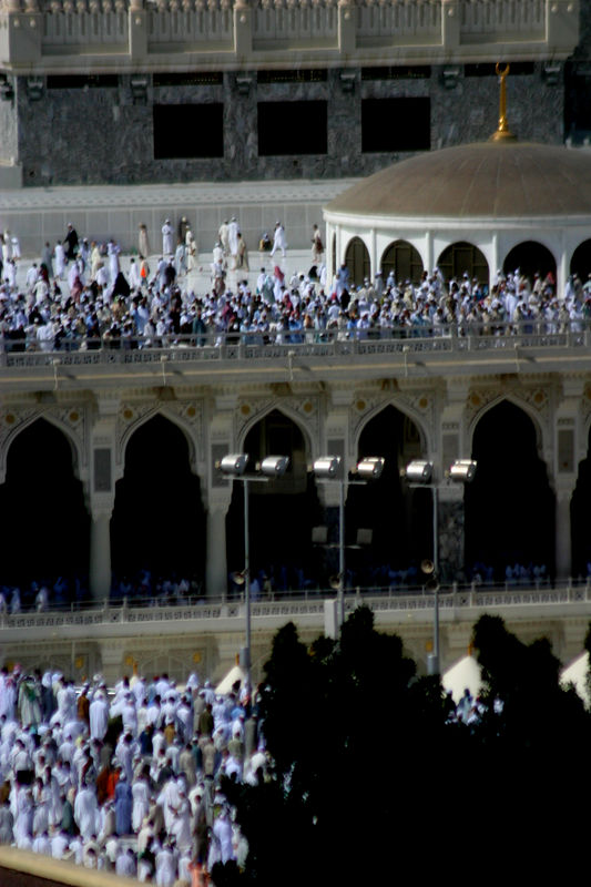 The upper floor of the masjid viewd from our room.