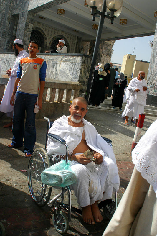Dr. Hoda after completion of the Umra and getting his head shaved.  He was very happy.