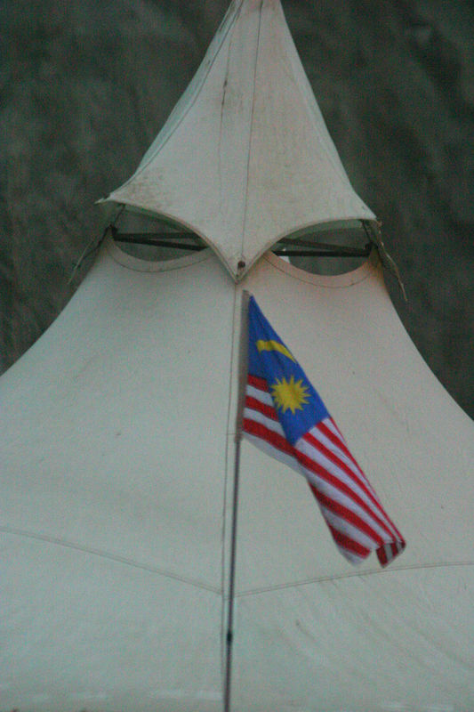 The Malaysian tents.
