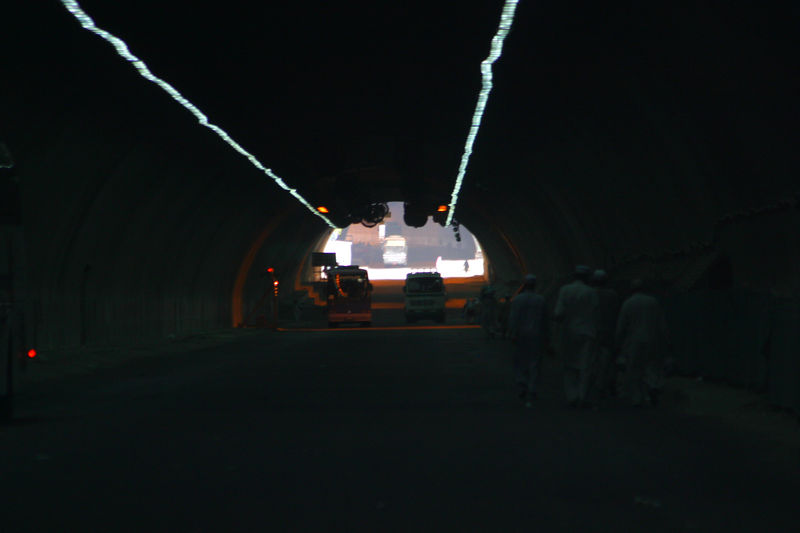 The tunnel leaving Makkah.