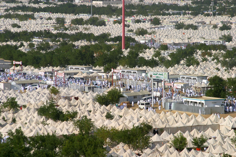 The sea of tents.